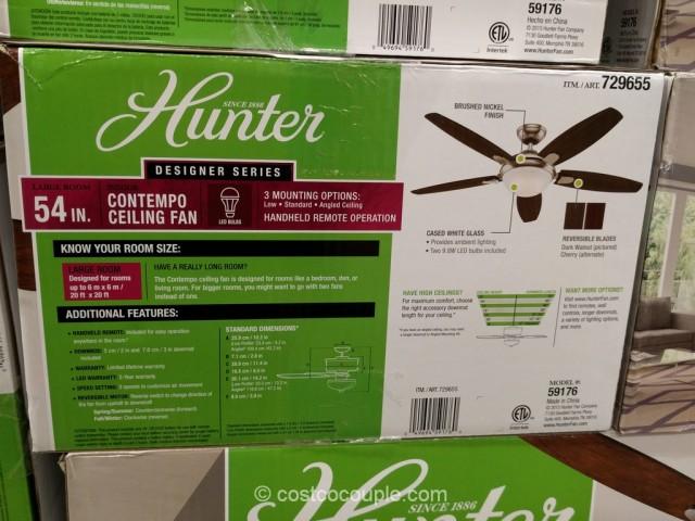 hunter designer series 54 inch contempo ceiling fan