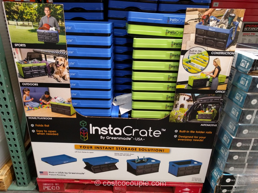 Instacrate Collapsible 12 Gallon Storage Bin Costco 2