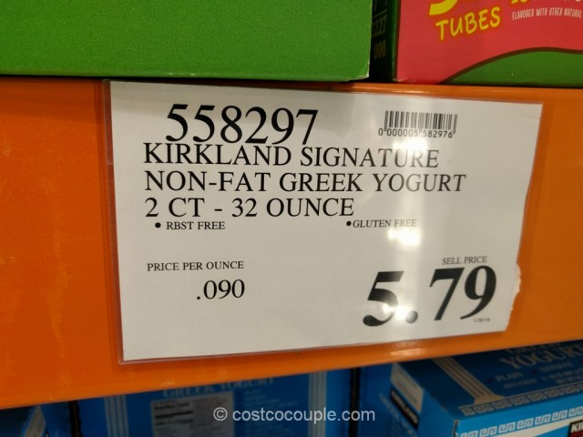 Kirkland Signature Non-Fat Greek Yogurt Costco 1