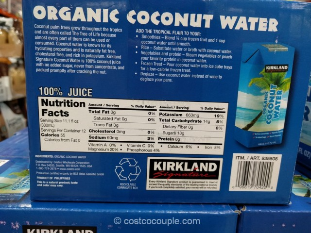 Kirkland Signature Organic Coconut Water Costco 2
