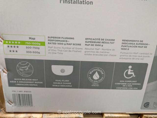 Waterridge One Piece Elongated Dual Flush Toilet Costco 3