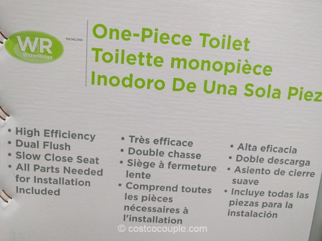 Waterridge One Piece Elongated Dual Flush Toilet Costco 4