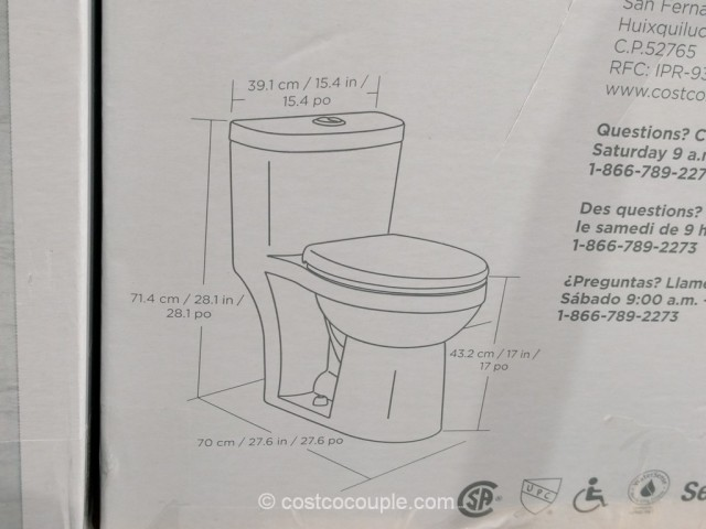 Waterridge One Piece Elongated Dual Flush Toilet Costco 6