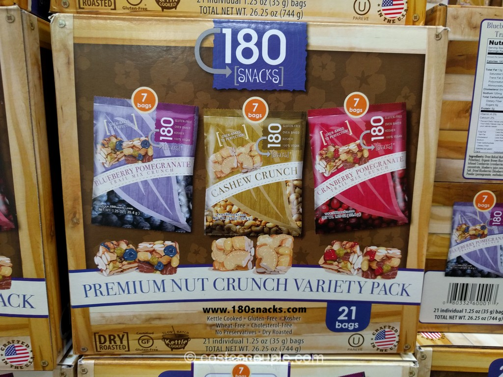 180 Snacks Premium Nut Crunch Variety Pack Costco 2