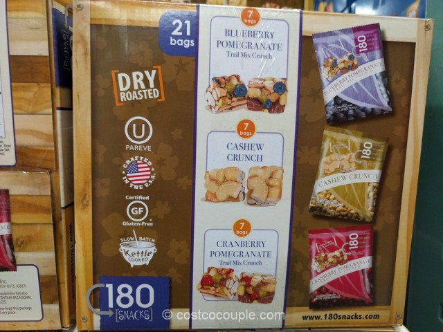 180 Snacks Premium Nut Crunch Variety Pack Costco 3
