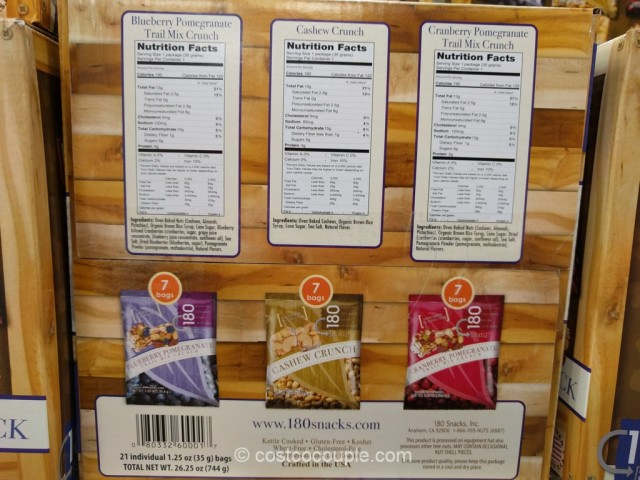 180 Snacks Premium Nut Crunch Variety Pack Costco 4