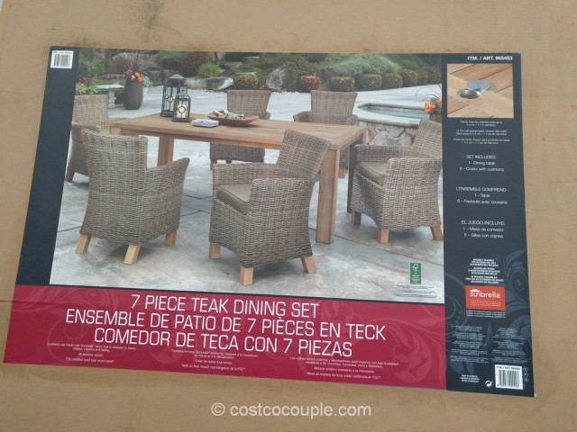 ... 7 Piece Teak Dining Set Costco 1 ...