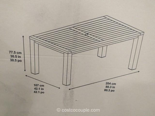 7-Piece Teak Dining Set Costco 3