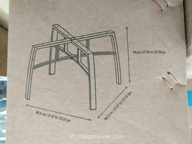 Agio International 5-Piece Woven Dining Set Costco 10