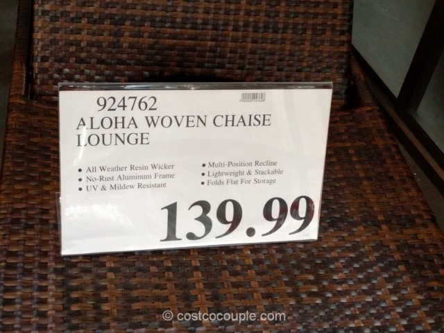 Aloha woven chaise lounge for Chaise lounge costco