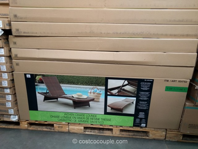Aloha woven chaise lounge for Ava chaise lounge costco