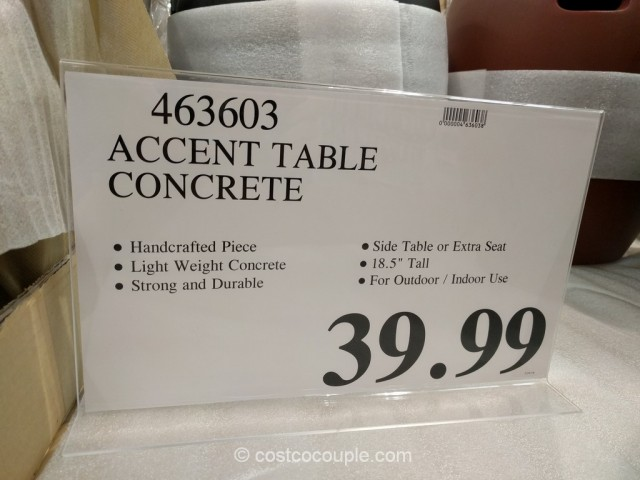 Concrete Accent Table Costco 1