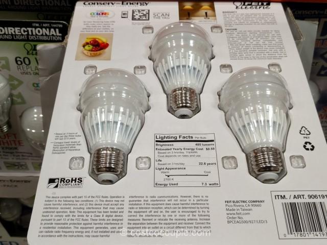 Feit Electric Dimmable 40 Watt LED Bulbs Costco 4