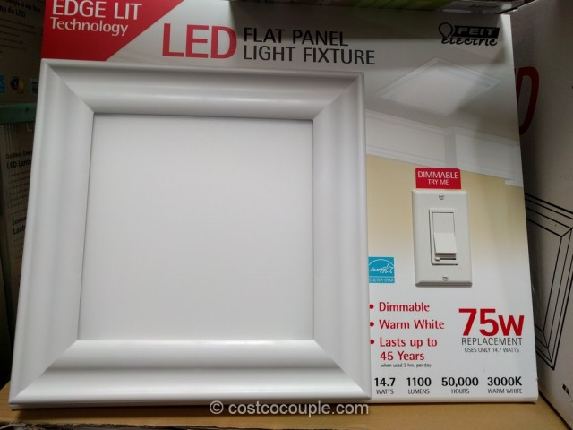 Feit Electric LED Flat Panel Light Fixture Costco 2