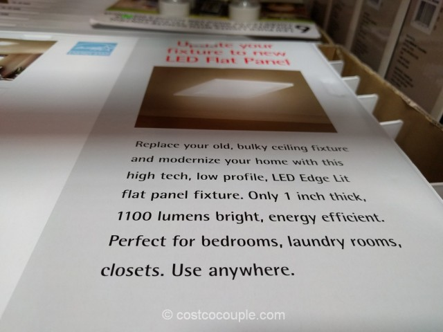Feit Electric LED Flat Panel Light Fixture Costco 4
