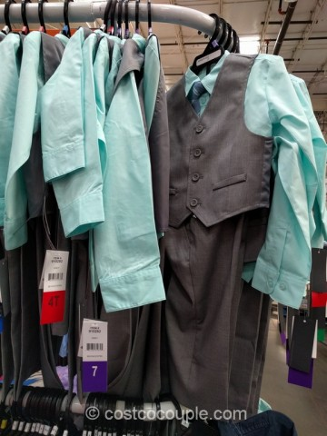 Kenneth Cole Boys 4-Piece Suit Set Costco 2