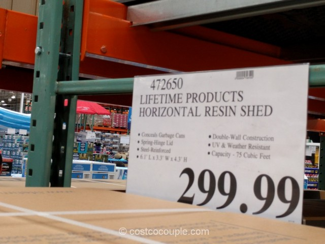 Lifetime Products Horizontal Resin Shed