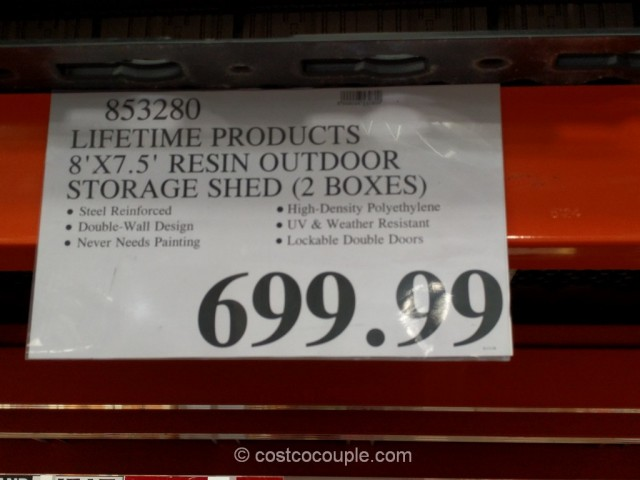 Lifetime Products Storage Shed Costco 1