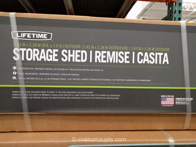 Lifetime Products Storage Shed Costco 6