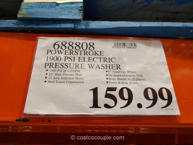Powerstroke 1900 PSI Electric Pressure Washer Costco 1
