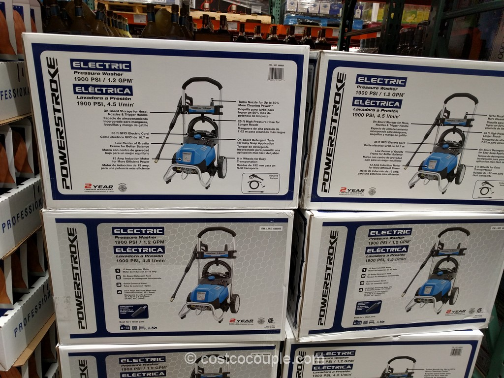 Powerstroke 1900 PSI Electric Pressure Washer Costco 2