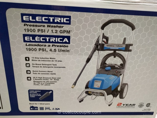 Powerstroke 1900 PSI Electric Pressure Washer Costco 3