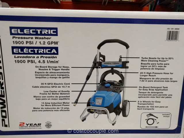 Powerstroke 1900 PSI Electric Pressure Washer Costco 4