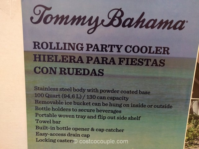 ... Tommy Bahamas 100 Qt Stainless Steel Rolling Cooler Costco 4 ...