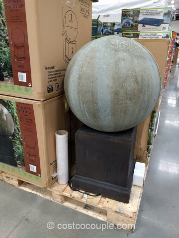 Urban Sphere Outdoor Fountain Costco 1