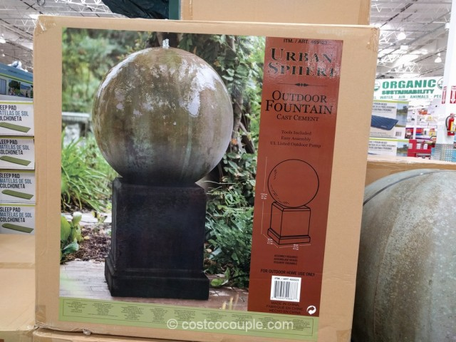 Urban Sphere Outdoor Fountain Costco 2