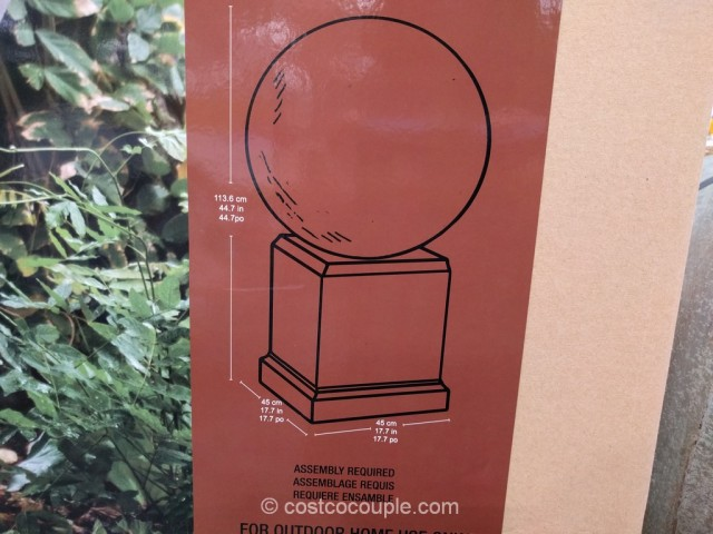Urban Sphere Outdoor Fountain Costco 3