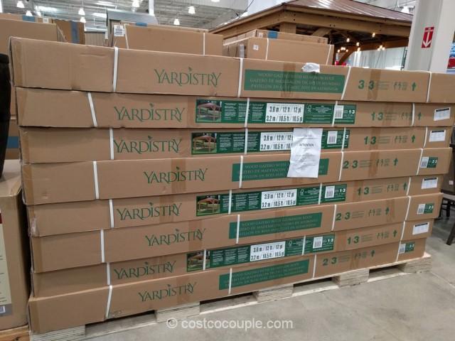 Yardistry Wood Gazebo With Aluminum Roof Costco 5