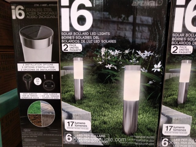 Solar Bollard Lighting Part - 49: I6 Solar Bollard LED Lights Costco 3 ...