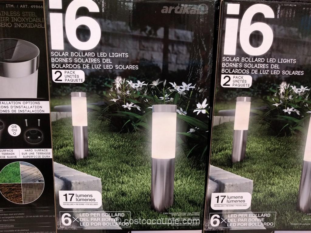 i6 Solar Bollard LED Lights Costco 4