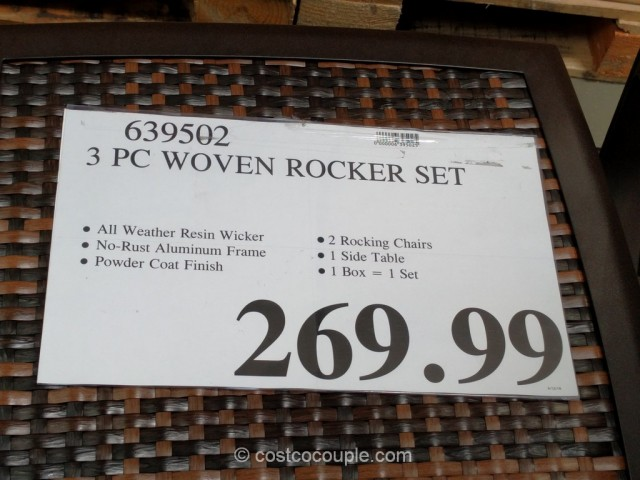 3-Piece Woven Rocker Set Costco 2