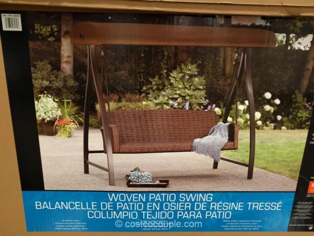 Agio International Woven Patio Swing Costco 2
