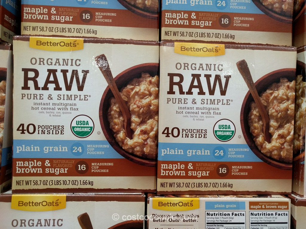Better Oats Organic Hot Cereal Costco 1
