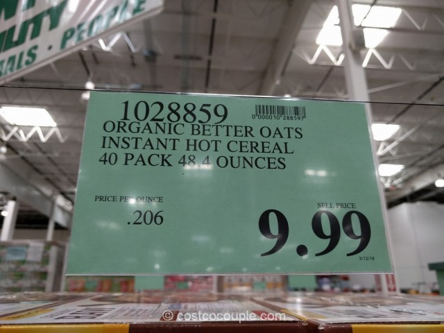 Better Oats Organic Hot Cereal Costco 2