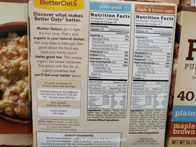 Better Oats Organic Hot Cereal Costco 3