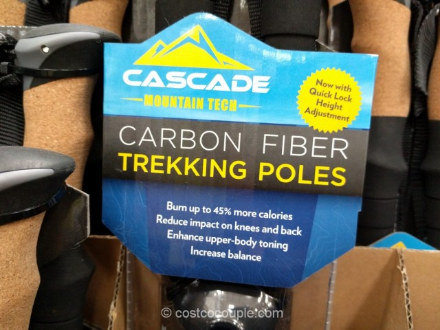 Cascade Mountain Carbon Fiber Trekking Poles Costco 4