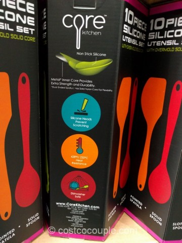 Core Home 10 Piece Silicone Kitchen Utensil Set