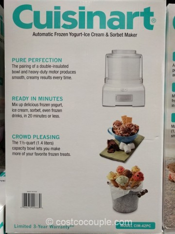 Cuisinart Ice-Cream Maker Costco 4