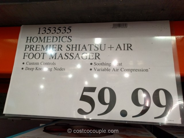 Homedics Shiatsu + Air Foot Massager Costco 1