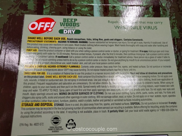 Off Deep Woods Dry Insect Repellent Costco 3