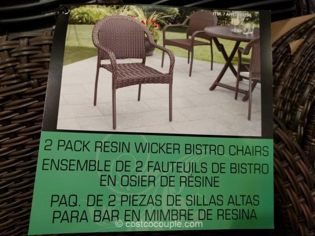 Resin Bistro Wicker Chair Costco 3