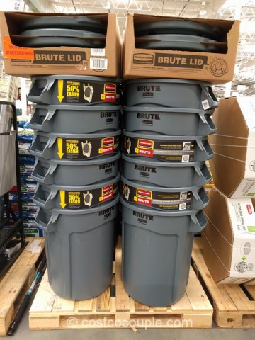 Rubbermaid Brute 32 Gallon Trash Can Costco 2