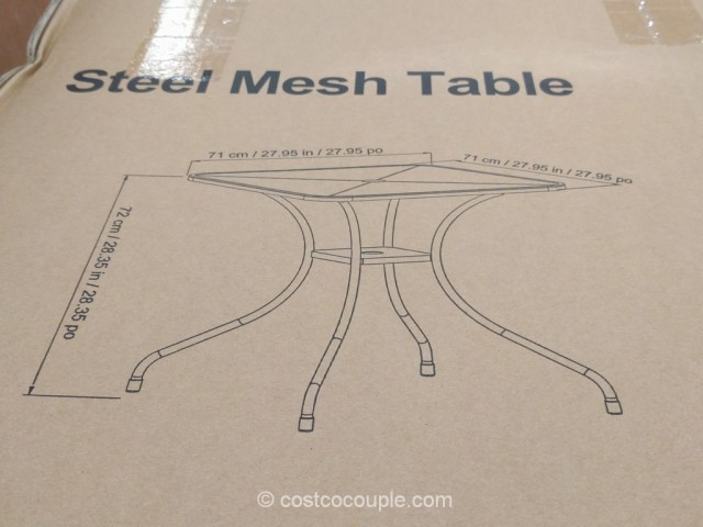 Sunvilla Mesh Bistro Table Costco 2