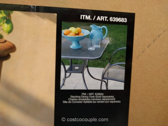 Sunvilla Mesh Bistro Table Costco 4