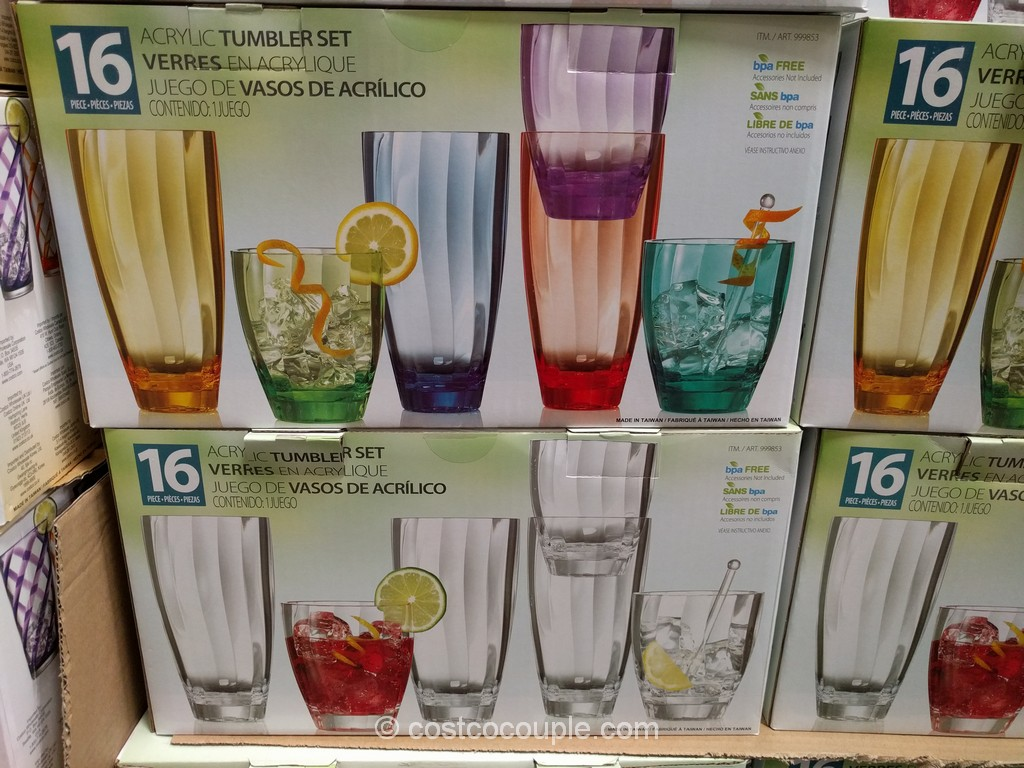 16-Piece Acrylic Tumbler Set Costco 5