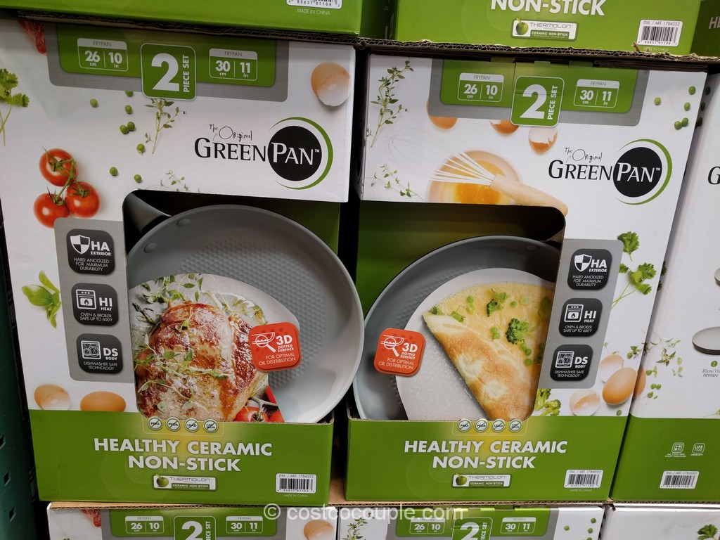 Green Pan Ceramic Non-Stick Skillet Set Costco 2